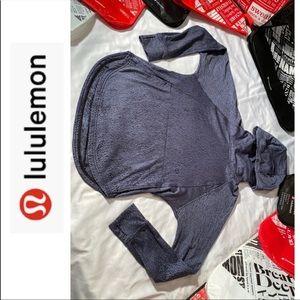 Lululemon Grey/Black Pullover Hoodie - 8